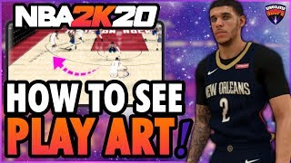 NBA 2K20 Tutorial - HOW TO SHOW PLAY ART! (Arrows on Ground)