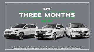 Skoda 3 Months On Us | PCP Car Finance UK Offer  Advert