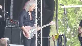 Brian May & The Troggs - Wildlife Rocks Soundcheck 5-5-2014 Part 1