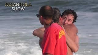 Terrible rescate de dos personas que se estaban ahogando en #PuntadelEste.