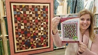 Secondary Pattern POPS!! Pinwheel Charm Quilt :)
