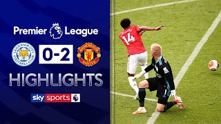SUBSCRIBE ► http://bit.ly/SSFootballSub PREMIER LEAGUE HIGHLIGHTS ► http://bit.ly/SkySportsPLHighlights Highlights from the Premier League where Manchester United secured a Champions League place at the expense of Leicester City. United opened the scoring through a Bruno Fernandes penalty. Jonny Evans was sent off in injury time before Jesse Lingard pounced on a Kasper Schmeichel blunder to double United's lead.  Watch Premier League LIVE on Sky Sports here ► http://bit.ly/WatchSkyPL ►TWITTER: https://twitter.com/skysportsfootball ►FACEBOOK: http://www.facebook.com/skysports ►WEBSITE: http://www.skysports.com/football  MORE FROM SKY SPORTS ON YOUTUBE: ►SKY SPORTS CRICKET: https://bit.ly/SubscribeSkyCricket ►SKY SPORTS BOXING: http://bit.ly/SSBoxingSub ►SOCCER AM: http://bit.ly/SoccerAMSub ►SKY SPORTS F1: http://bit.ly/SubscribeSkyF1