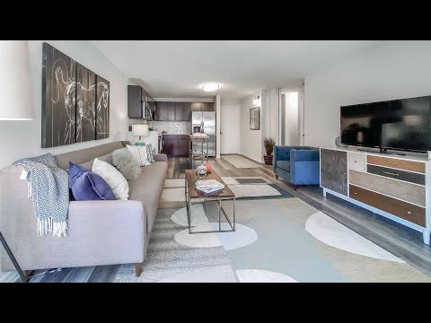 A River North / Gold Coast C-plan one-bedroom model at Chestnut Place