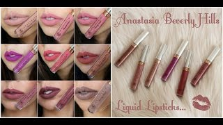 Anastasia Beverly Hills Liquid Lipsticks (New shades!) | ChaiTimewithMeesha