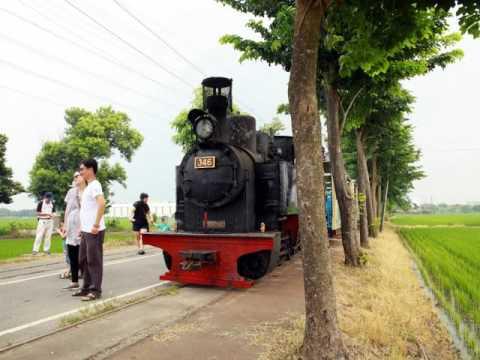 退役整修後再次復駛346蒸汽小火車奔馳田野英姿。