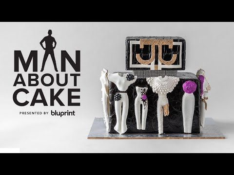 Bravo's Project Runway Inspired Fashion Cake with a SURPRISE Guest Appearance! | Man About Cake