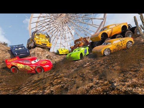 Cars 3 McQueen Jackson Storm Colors Cruz Ramirez Monster 8X8 Truck Tow Mater Mack Truck Dinoco