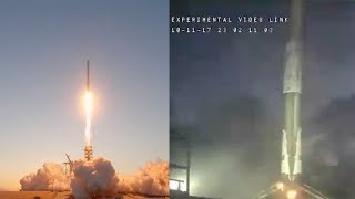 SpaceX Falcon 9 launches EchoStar 105/SES-11 & Falcon 9 first stage landing, 11 October 2017 | Kholo.pk