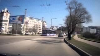 Едем по городу Севастополь от проспекта Античный до Автовокзала
