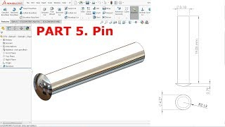 SolidWorks Tutorial Design of Bench Vice Part 4 Handle rod