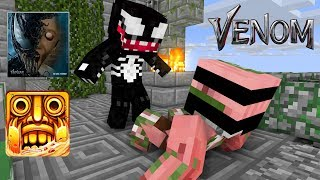 Monster School : VENOM GRANNY VS MONSTER TEMPLE RUN CHALLENGE - Minecraft Animation