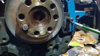 Сборка задней части двигателя мтз
