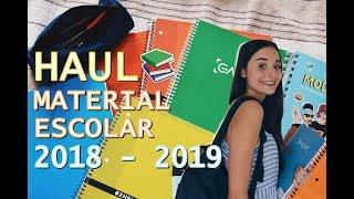 HAUL MATERIAL ESCOLAR 2018 - 2019 @elestuchedeh