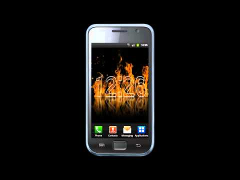 Video of Fire Clock Live Wallpaper