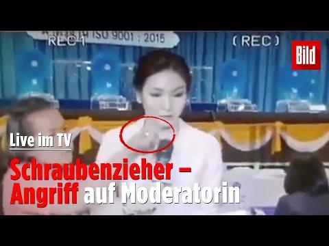 Schraubenzieher-Angriff auf Moderatorin live im TV