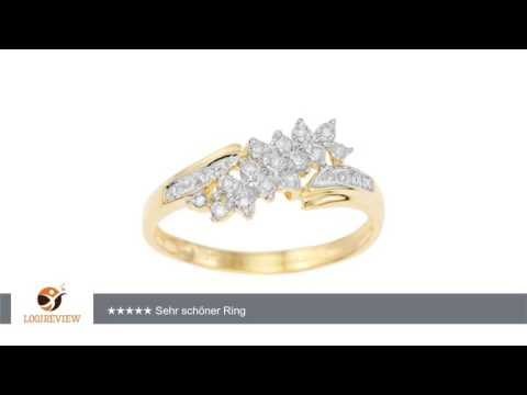 Damen-Ring 9 Karat Gelb Gold, Diamond Fancy Ring Gr. 56 (17.8) | Erfahrungsbericht/Review/Test