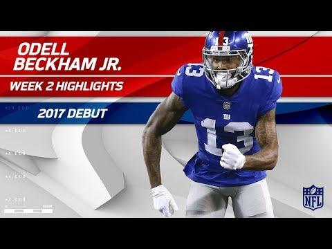 Odell Beckham Jr. Struggles in 2017 Debut | Lions vs. Giants | NFL Wk 2 Player Highlights