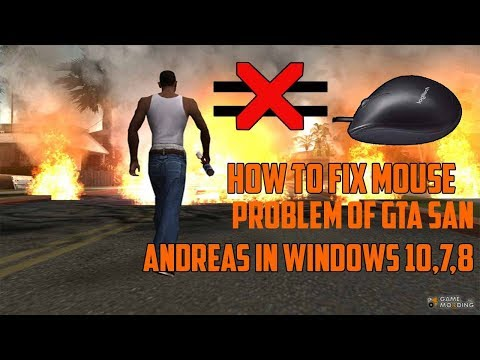 How to fix not work mouse in GTA game any windoes - смотреть
