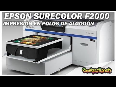 EXPOTEXTIL PERU 2015: EPSON SURECOLOR F2000(IMPRESIÓN DE POLOS)