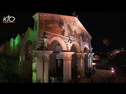 Prière dans l'église de Gethsémani