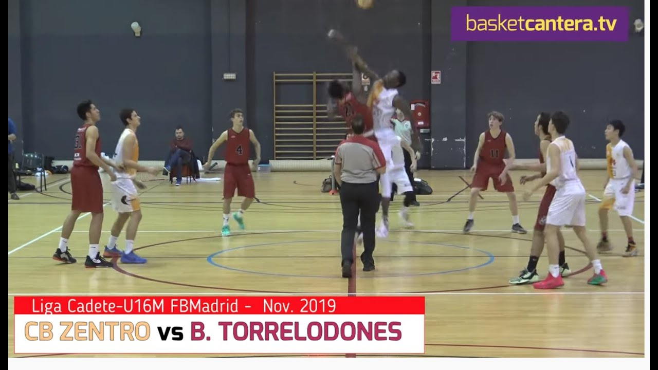 U16M - CB ZENTRO vs B. TORRELODONES.- Liga Cadete FBMadrid 2019 (BasketCantera.TV)
