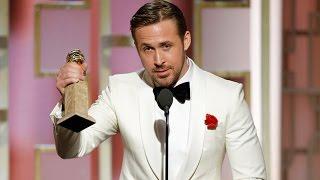 Ryan Gosling Dedicates 2017 Golden Globe Win To Eva Mendes With Emotional Speech