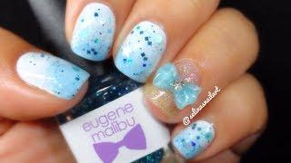 Simple Baby Blue Nail Art