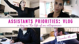 Assistants Priorities: Meeting with Assistant + Coaching session: December 5th VLOG
