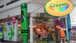 The Crayola Experience In The Florida Mall | World's Largest Crayon, Making Crayon Art & More!