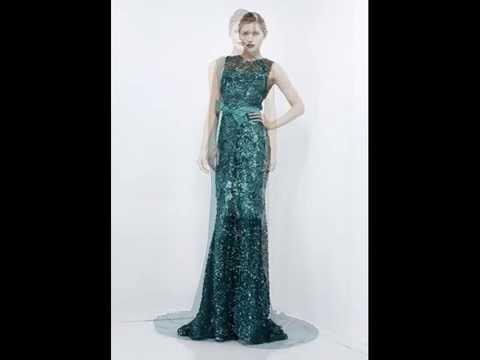 Mode Kleider Abendkleider in Grün