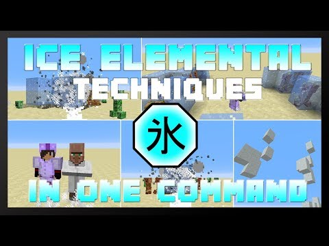 ice elemental powers in one command minecraft project