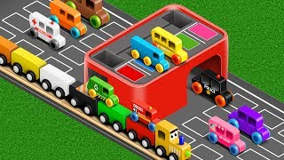 Colors for Children to Learn with Street Vehicles - Colours Collection for Children