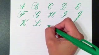 Writing the Copperplate Calligraphy Alphabet with a Pentel Touch Brush Pen