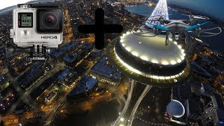 Attaching a GoPro to A Cheap Drone and Flying It
