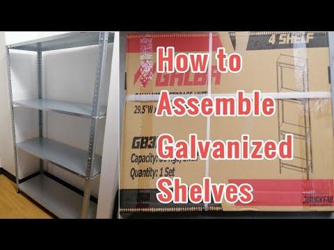 How to Install GALBA BOLTLESS SHELF I Easy Installation | Galvanized | The Basic Guides