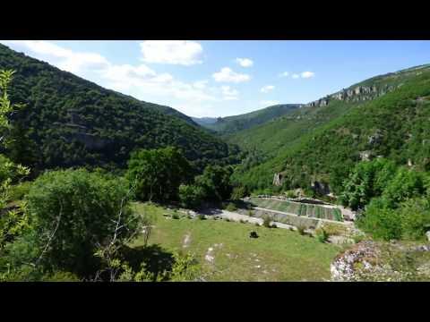 Castel de Cantobre - La vue de notre jardin,