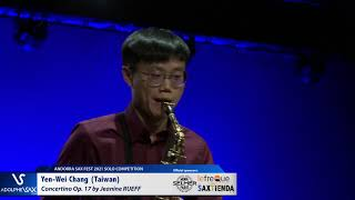 Yen Wei Chang plays Concertino by J  RUEFF – Andorra Sax Fest FINAL ROUND