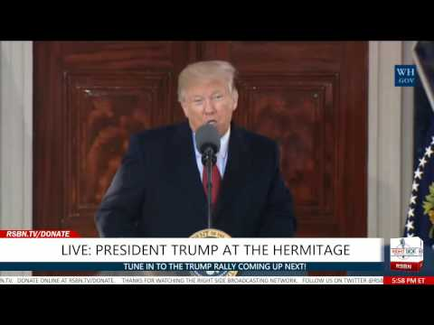 FULL SPEECH: President Trump Speaks at the Hermitage in Nashville 3/15/17