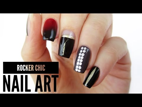 5 Rocker Chic Nail Art Designs / Toronto Fashion Week!