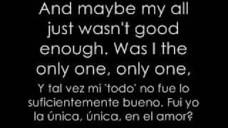 Jordin Sparks- Was I The Only One (English-Spanish Lyrics)