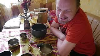 ПОЮЩИЕ ЧАШИ. Тибетские чаши. Новый день. О звукотерапии. Медитация. Singing bowls sound therapy