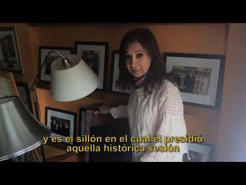 Cristina describió con un video como dejaron su casa tras el allanamiento de Bonadio