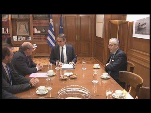 Συνάντηση του Κυριάκου Μητσοτάκη με το γενικό διευθυντή του Διεθνούς Οργανισμού Μετανάστευσης (ΔΟΜ)