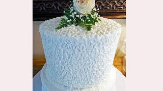 How To Decorate A Cornelli Lace Wedding Cake