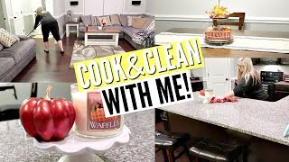 COOK AND CLEAN WITH ME 2018 // CLEANING MOTIVATION // DINNER IDEAS