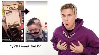 Hairdresser Reacts To Tiktok Bleach Disasters