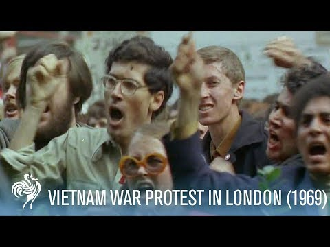 Vietnam Protesters Clash with Police in Grosvenor Square, London (1968) | War Archives
