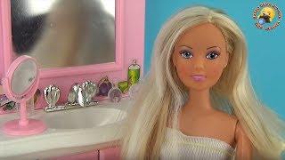 Мебель для куклы «Ванная комната». Мультик «Первое свидание». Игровой набор для девочек Bathe A Doll