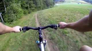 preview picture of video 'Freeride MTB Linz, Gis to Linz, Woodstreet, Downhill (GoPro 3) August 2013'