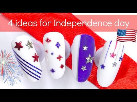 Independence Day ?? Easy Fourth of July Nail Art Tutorials
